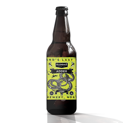 Allendale Brewery Adder Lager  500ml-5.0%