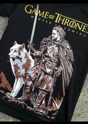 T-Shirt Games Of Thrones - Jon Snow - Winter is Coming
