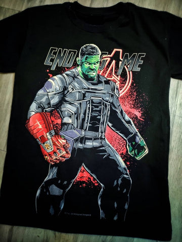 T-Shirt HULK END GAME - Professeur HULK - Nano Gauntlet