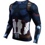 Captain America Fitness T-Shirt Long Sleeve