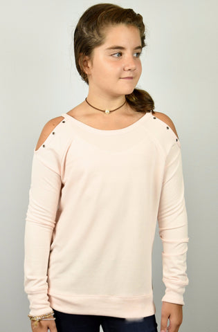Grommet cold shoulder top by Splendid
