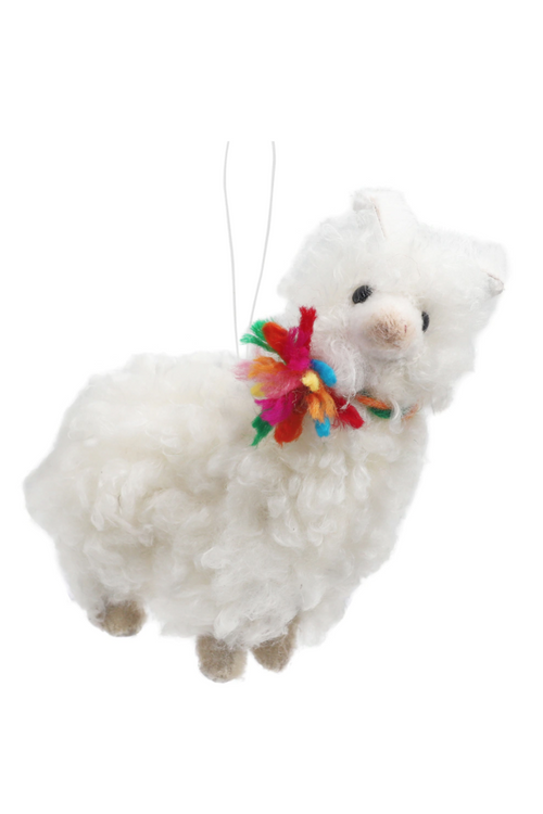 Fluffy Llama Keepsake Ornament