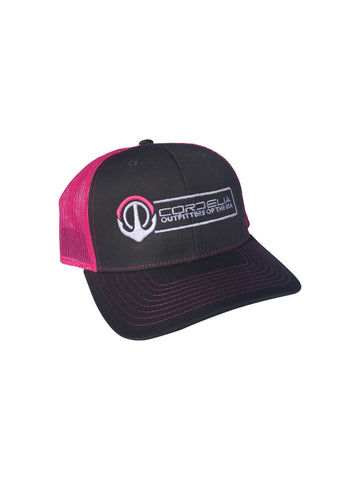 Cordelia Hot Pink/Charcoal logo hat