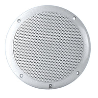"Poly-Planar 6"" Dual Cone Integral Grill Speaker - (Pair) White"