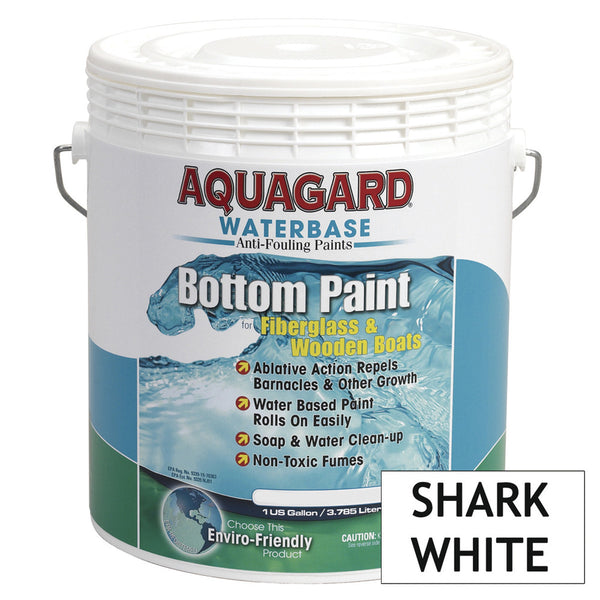 Aquagard Waterbased Anti-Fouling Bottom Paint - 1Gal - Shark White