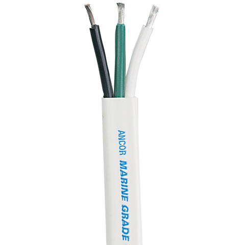 Ancor White Triplex Cable - 6/3 AWG - Flat - 100'