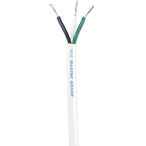 Ancor White Triplex Cable - 14/3 AWG - Round - 250'