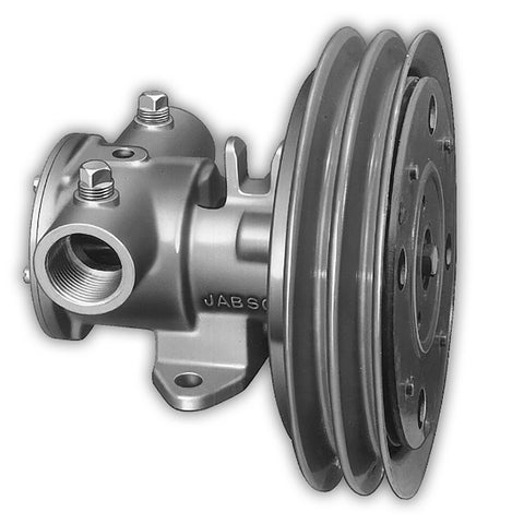 "Jabsco 1-1/4"" Electric Clutch Pump - Double A Groove Pulley - 12V"