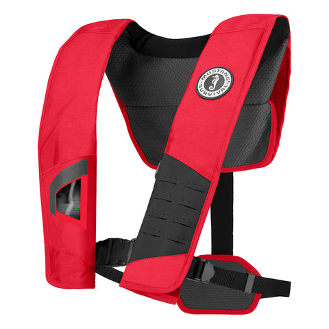 Mustang DLX 38 Deluxe Automatic Inflatable PFD - Red/Black