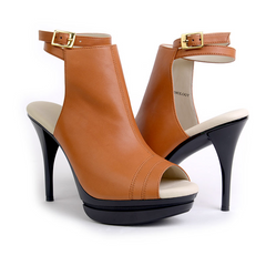 Very Comfortable Caramel High Heel Bootie