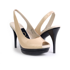 The Stacey (Nude Patent Leather)