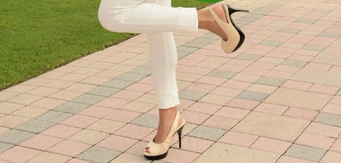 Really Comfortable Nude Slingback High Heels