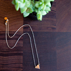 Solid Triangle Necklace