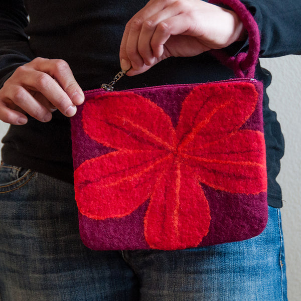 Wool Flower Clutch