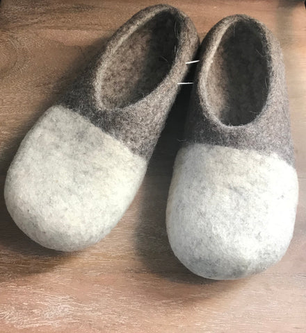 Men's Two-Color Wool Slippers
