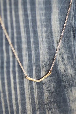 Small Bent Bar Necklace