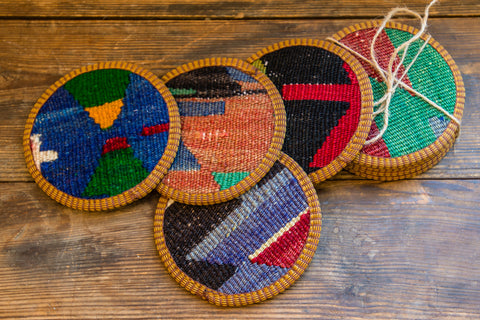 Pack of Kilim Coasters
