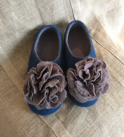 Flower Wool Slippers