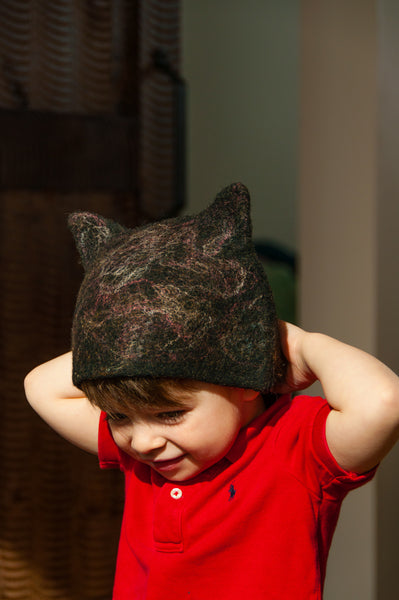 Kid's Cat Hat w/ Tail
