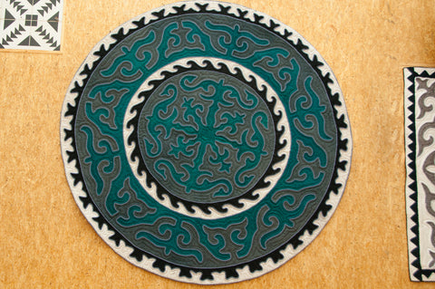 Shield (Turquoise on Grey)