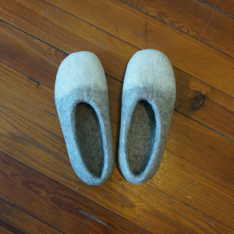 Women's Two-Color Wool Slippers