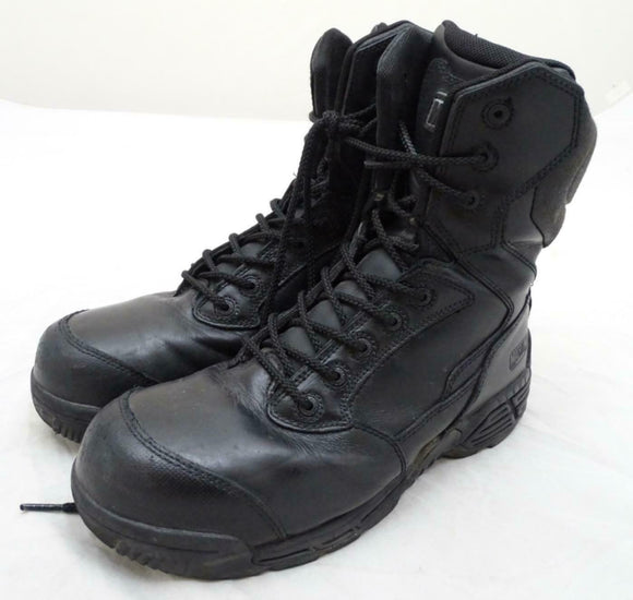 Used Magnum Stealth Force 8.0 Side Zip & Lace Up Black Combat Tactical Boots