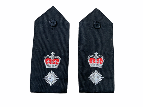 Obsolete Original Issue Chief Superintendent Police Rank Epaulettes Grade A