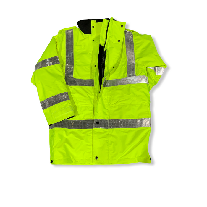 Hi Vis Jacket Waterproof Rain Coat Security Dog Handler HVPC10A