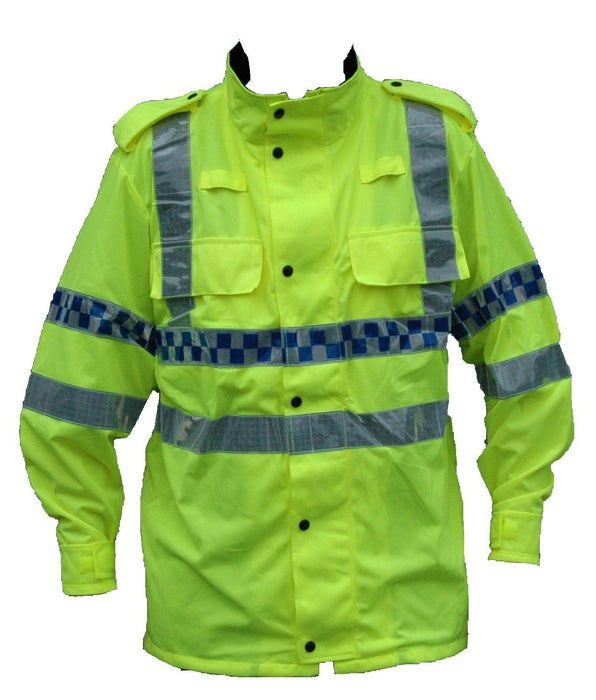 Yellow Hi Vis Lightweight Reflective Over Jacket Horse Riding Motorbike LW01A
