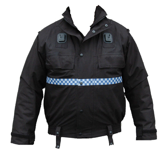 New Police Issue Black Waterproof Lined Blouson Bomber Jacket Security PBJ01LN