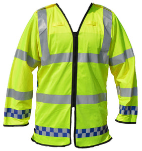 Hi Viz Vis Lightweight Reflective Traffic Overcoat Recovery Walking LW04A
