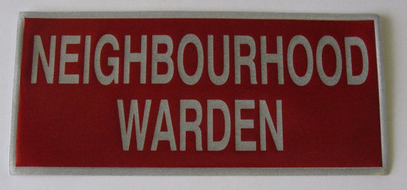 Encapsulated Reflective Neighbourhood Warden In Red And Silver
