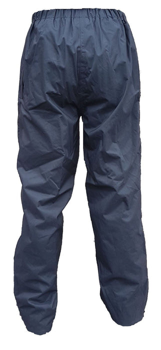 New Ex Police Overtrousers Hydrophilic Coated Black Nylon Waterproof