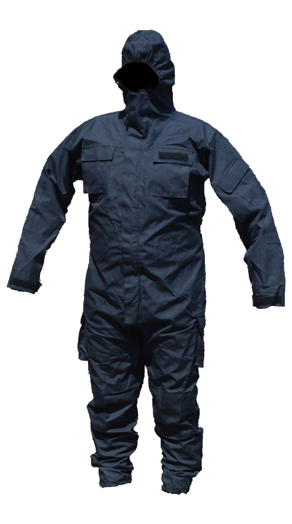 New Ex Police Black Remploy Civil Responder Peeler Waterproof Coverall Army