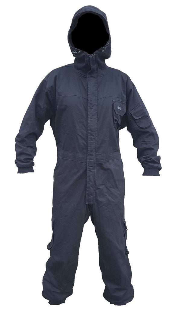 Keela Black Tactical Overall Coverall Paintballing Workwear Airsoft