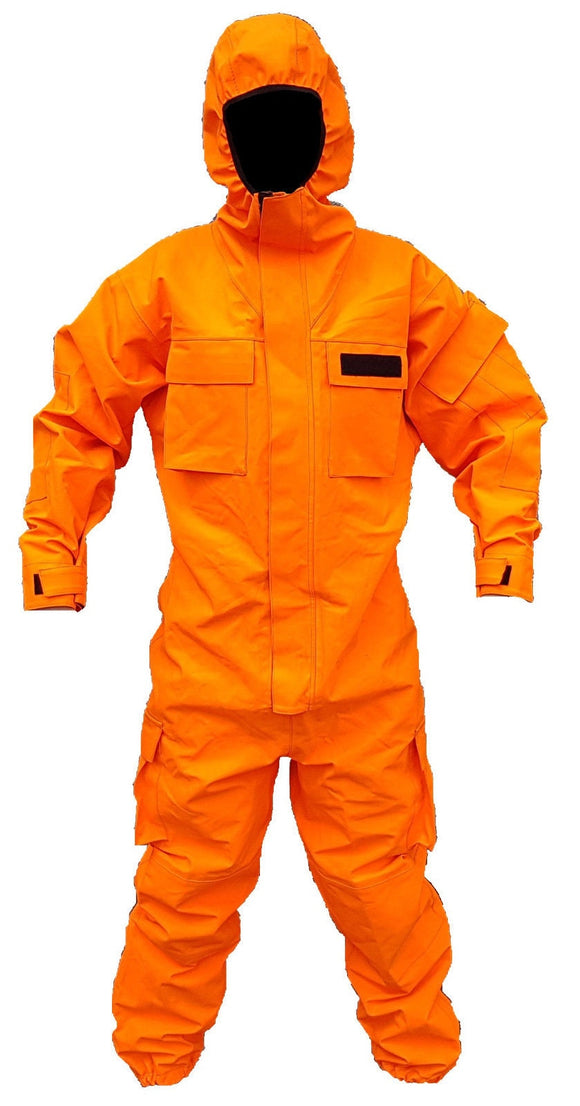 Orange Remploy Civil Responder Peeler Waterproof Coverall Army Grade B