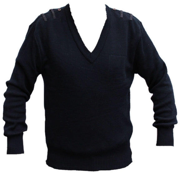 Navy Blue NATO Jumper wool/acrylic blend