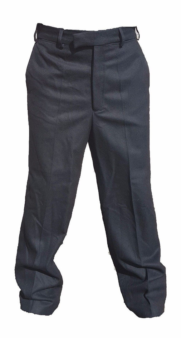 Genuine Men's Black 100% Wool British Uniform Trousers W3U