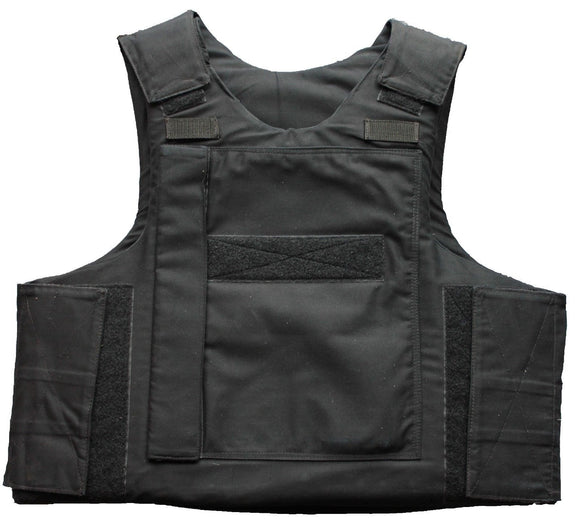 Black Tactical Body Armour, Offering Protection from Ballistics, Blades and Bullets