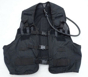 Ex Police Black Remploy Frontline Hydration Tactical Vest MK2 Pouch And Bladder