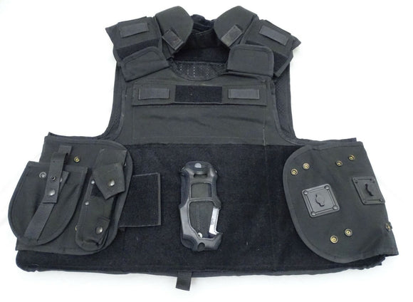 Ex Police Black Aegis Tactical Body Armour Bullet Proof Only Vest XL/T OA73