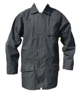 Ex Police Black 3/4 Goretex Waterproof Rain Coat Security BGC02A