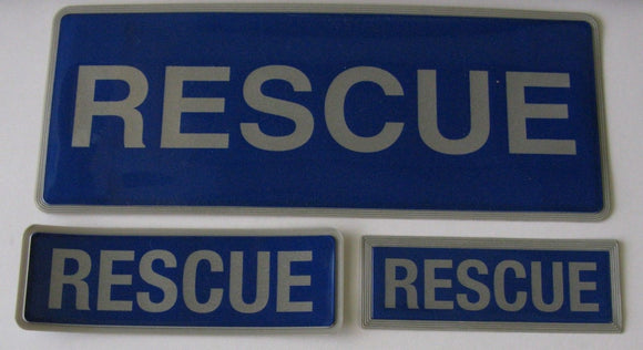 Encapsulated Reflective Rescue Badges Sewn On Or Hook and Loop Different Sizes