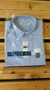 Bundle Of 2 New Pale Blue Short Sleeve Easy Iron Mens Oxford Shirt