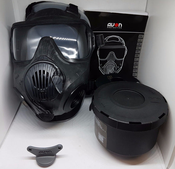 New In Box Rare British Army S019 Avon C50 Respirator Gas Face Mask Full Set