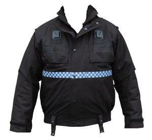 Ex Police Black Waterproof Blouson Bomber Jacket Security Grade B Lined PBJ01LB