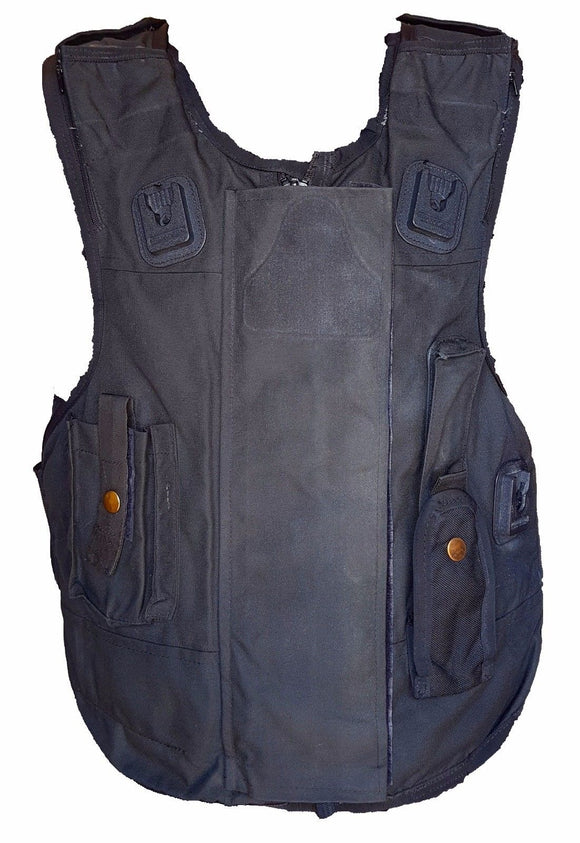 Male Global Ballistic Armour Body Stab Spike Vest Black !!COVER ONLY!!
