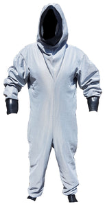 Light Grey CBRN Remploy Britannia Rubber Fetish Under-Coveralls GradeA