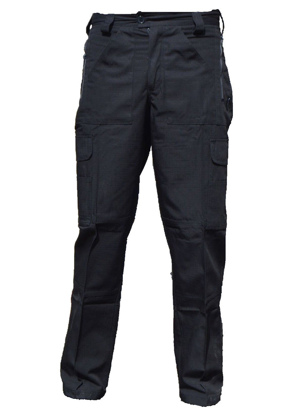 New Ex Police Black Ripstop Tactical Cargo Trousers Male R3N