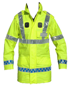 New Hi Viz Breatheble Waterproof Ventflex Coat Klickfast Security